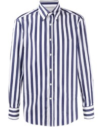 Brunello Cucinelli Button Down Collar Striped Shirt