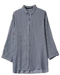 ChicNova Vertical Stripe Print Blouse