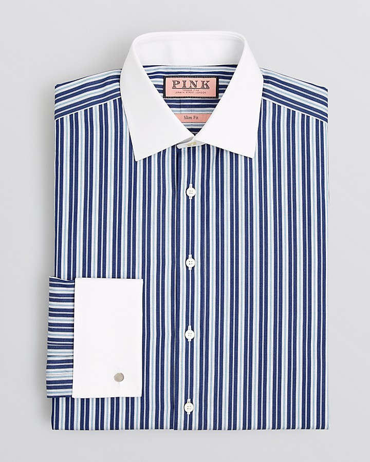 Thomas Pink Hendon Stripe Dress Shirt Regular Fit | Where to buy ...