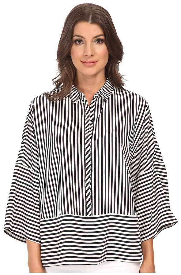 74eab49699fad0 Adrianna Papell Oversized Drop Shoulder Blouse, $99 | Zappos ...