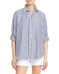 Rag and Bone Rag Bonejean Button Front Boyfriend Shirt