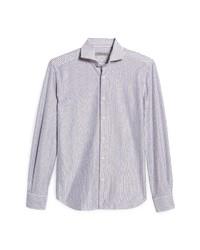 Corneliani Stripe Linen Cotton Dress Shirt