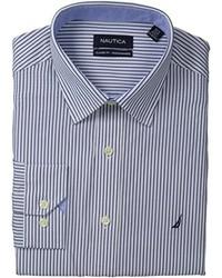 Nautica Stripe Point Collar Dress Shirt