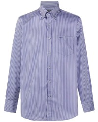 Paul & Shark Stripe Print Button Down Shirt