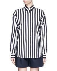MS MIN Stripe Print Cotton Shirt