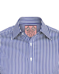 Thomas Pink Algernon Stripe Slim Fit Double Cuff Shirt