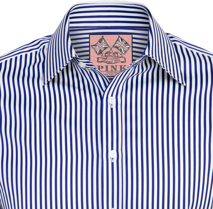 Thomas Pink Algernon Stripe Slim Fit Double Cuff Shirt | Where to ...