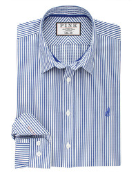 Thomas Pink Hulatt Stripe Slim Fit Button Cuff Shirt