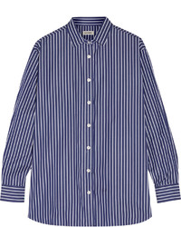 Totme capri striped cotton poplin shirt medium 1252326