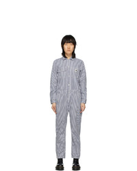 Carhartt Work In Progress Blue And White Striped Tara Coveralls