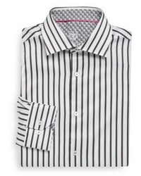 Bugatchi striped cotton shirt medium 930849