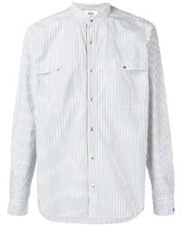 Woolrich Mandarin Collar Striped Shirt