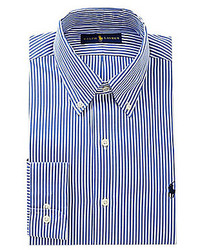 Polo Ralph Lauren Pinpoint Button Down Collar Stripe Oxford Dress Shirt