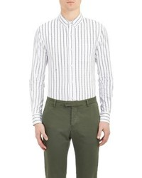 Band Of Outsiders Stripe Oxford Cloth Shirt