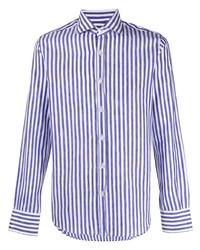 Canali Striped Button Up Shirt