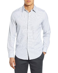 Theory Sylvain Slim Fit Stripe Button Up Shirt