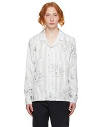 Soulland White Blue Brady Shirt