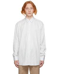 Soulland White Blue Damon Shirt