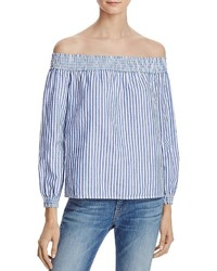 Rag & Bone Jean Stripe Off The Shoulder Top