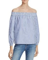 Jean stripe off the shoulder top medium 1252937