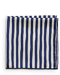 Saks fifth avenue black silk striped pocket square medium 27708