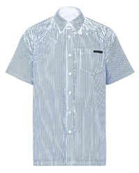 Prada Paint Splatter Striped Shirt