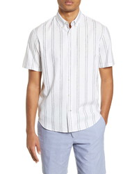 Club Monaco Slim Fit Deck Stripe Short Sleeve Shirt
