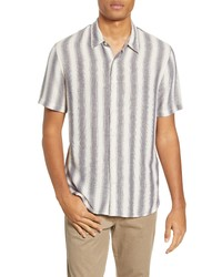 Vince Slim Fit Stripe Short Sleeve Button Up Shirt