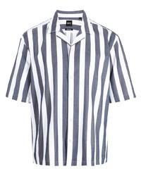 BOSS Stripe Print Cotton Shirt