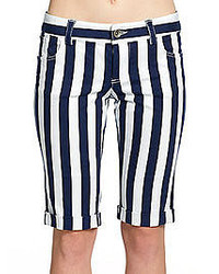 Alice + Olivia Striped Bermuda Shorts