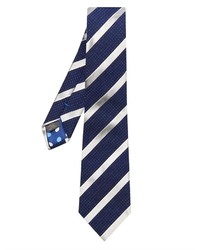 Paul Smith Diagonal Striped And Pin Dot Jacquard Tie