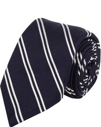 Barneys New York Stripe Grenadine Neck Tie