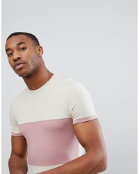 ASOS DESIGN Asos Muscle Fit T Shirt With Colour Block