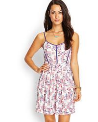 Contemporary floral cami cutout dress medium 60609