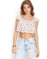 Forever 21 Floral Print Crop Top