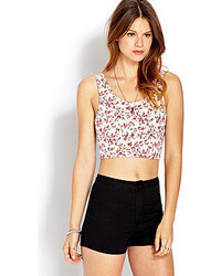 Forever 21 Dainty Floral Crop Top
