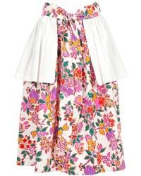 Saint laurent yves vintage peplum detail skirt medium 39201