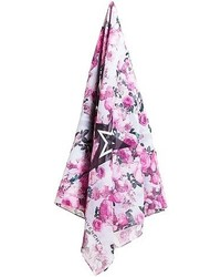Givenchy Floral Printed Cotton And Silk Scarf