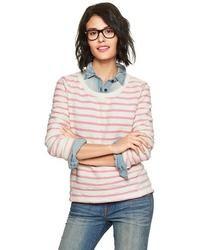 Stripe reverse terry sweatshirt medium 31162