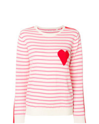Chinti & Parker Striped Heat Printed Sweater