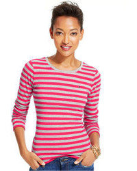 Long sleeve striped crew neck tee medium 95104