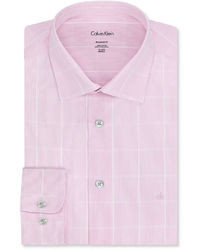 ... Calvin Klein Liquid Cotton Large Check Dress Shirt