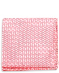 White and Pink Pocket Square