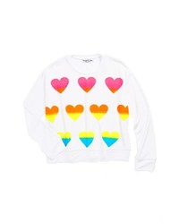 Flowers by Zoe Heart Sweatshirt White Heart 6x