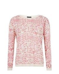 New Look Cream Heart Print Jumper
