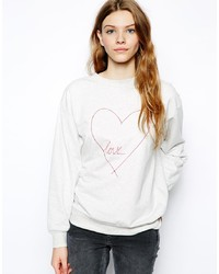 People Tree Love Heart Sweatshirt