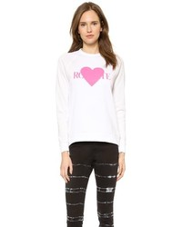 Rodarte Rohearte Sweatshirt With Pink Heart