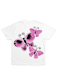 Artsmith Inc All Over Print T Shirt Cancer Pink Butterflies For Ribbon Support