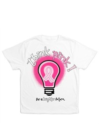 Artsmith Inc All Over Print T Shirt Cancer Pink Ribbon Think Pink For A Brighter Future Light Bulb