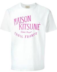 Kitsune Maison Kitsun Logo Print T Shirt